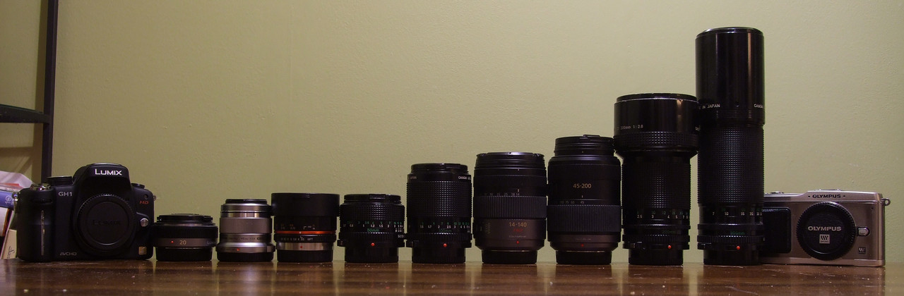 Lenses and camera bodies